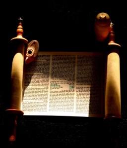 Torah scroll open 2