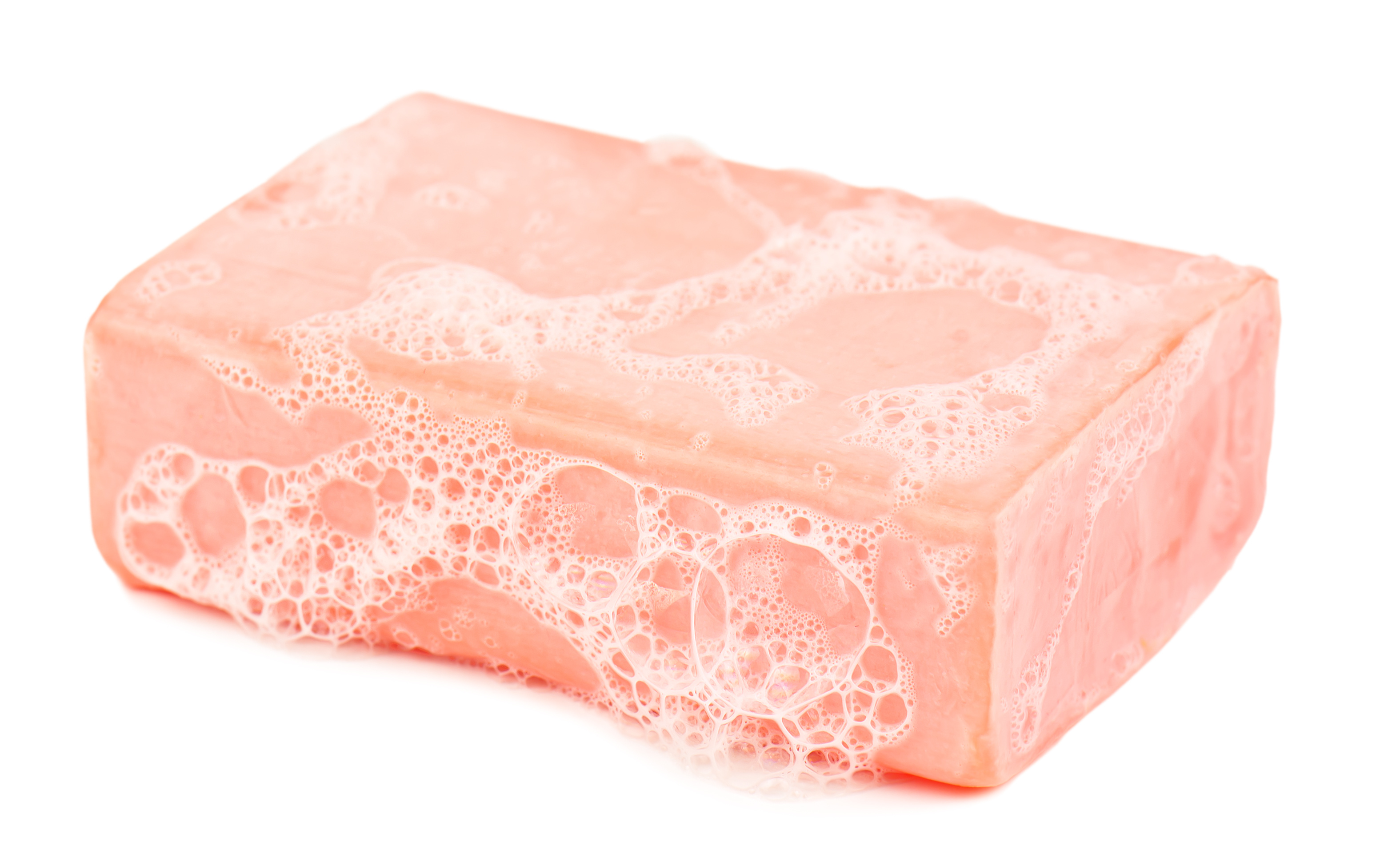 piece of soap and foam