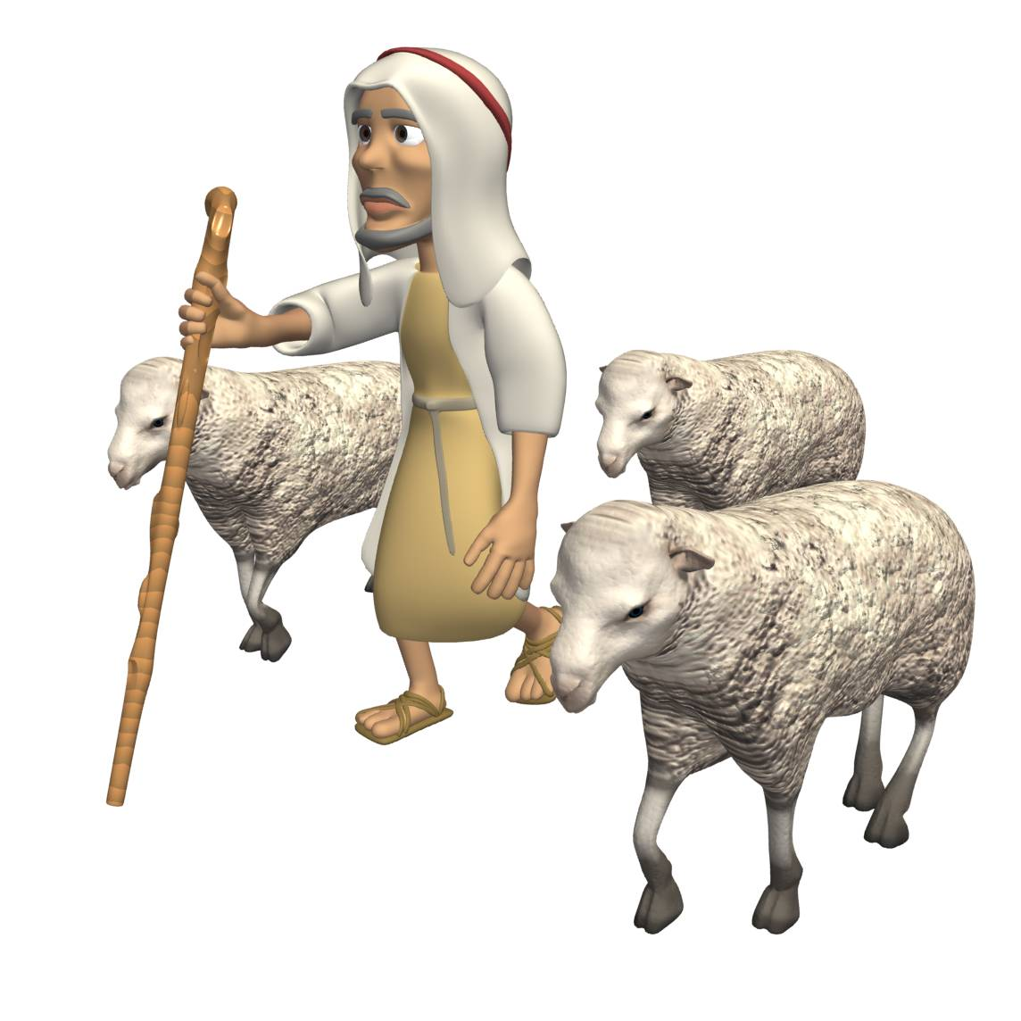 Shepherd w- sheep 33398025