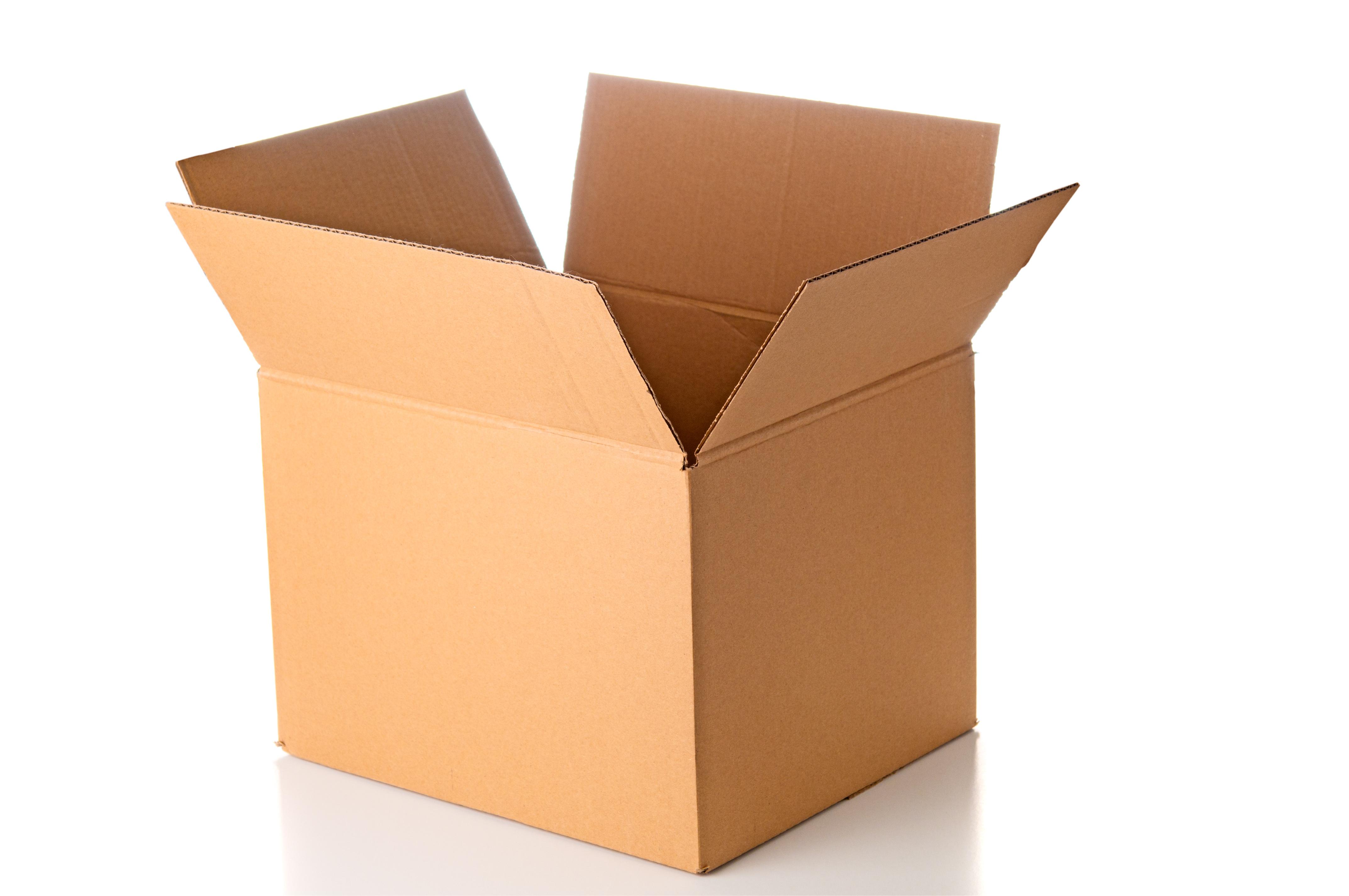 Open cardboard box clo...
